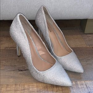 Fuzzy Silver Heels Call it Spring